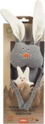 Wooly Organic Funky Feet, Organiczna przytulanka, Zajączek i kotek (WOR00233)