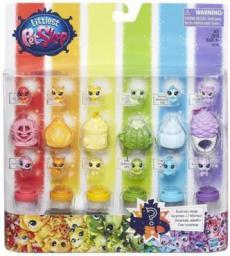 Hasbro Littlest Pet Shop Teczowy zestaw zwierzaków (C0796)
