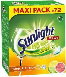 Unilever Tabletki do zmywarek All In 1 Double Action Citrus 72szt. (667656)