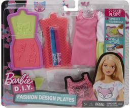 Mattel BARBIE Zrób to sama - stylowe szablony, różowo-żółte ubranko DYV66/DYV68