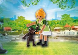 Playmobil Playmo-Friends, Opiekunka zwierząt z gorylątkiem (9074)