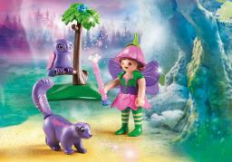 Playmobil Fairies, Wróżka z przyjaciółmi, sową i skunksem (9140)