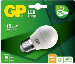 GP Battery LED Mini Globe E27, 3.5W, 250lm (472097)