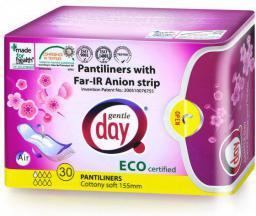 Gentle Day Wkładki ekologiczne do codziennego stosowania z paskiem anionowym 15 sztuk