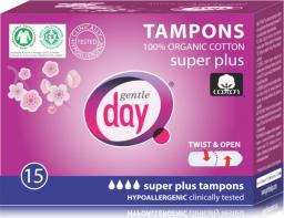 Gentle Day Tampony ze 100% bawełny ekologicznej  Super plus 15szt