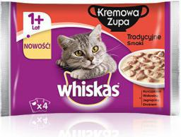 Whiskas Tradycyjne smaki zupa kremowa 1+ lat 4x85g