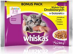 Whiskas Junior wybór dań drobiowych w galaretce 4x100g