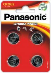 Panasonic Bateria Lithium Power CR2032 4szt.