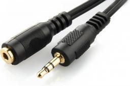 Kabel Gembird Jack 3.5mm - Jack 3.5mm 5m czarny (CCA-423-5M)