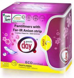 Gentle Day Wkładki ekologiczne do codziennego stosowania z paskiem anionowym 30 sztuk