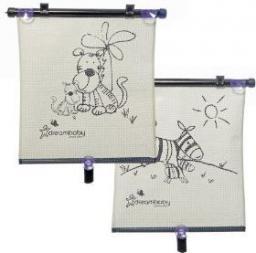 Dreambaby Dwustronna roleta przeciwsłoneczna zebra i tygrys 2 szt (DRE000130)