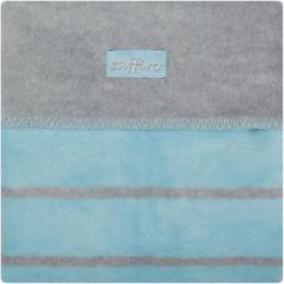 WOMAR Koc 100% bawełna 75X100 Paski niebieski/szary