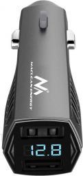 Ładowarka Maclean 4,8A 2xUSB z wyświetlaczem, voltomierz (MCE126)
