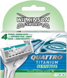 Wilkinson  Quattro Titanium Sensitive wkład do maszynki do golenia 4szt
