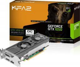 Karta graficzna KFA2 GeForce GTX 1050 OC LP 2GB GDDR5 (128 bit), HDMI, DP, DVI-D, BOX (50NPH8DSP2MK)