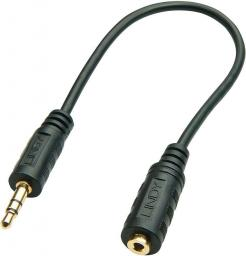 Kabel LINDY MiniJack 3.5 mm MicroJack 2.5 mm, 0.2, Czarny (35699)