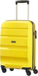 American Tourister Walizka spinner BonAir Strict S - żółty (85A-06-001)