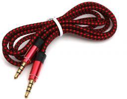 Kabel Omega MiniJack 3.5 mm - MiniJack 3.5 mm, 1, Czarny Czerwony