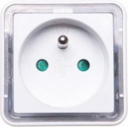 Lampka wtykowa do gniazdka Orno LED z gniazdkiem (OR-LA-1408)
