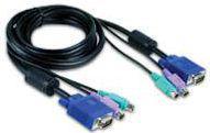 Kabel KVM D-Link DKVM-CB Zestaw kabli do DKVM-2, DKVM-4, DKVM-8 (24F), 1.8m (PS/2, PS/2, D-Sub-15)
