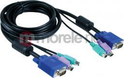 D-Link DKVM-CB Zestaw kabli do DKVM-2, DKVM-4, DKVM-8 (24F), 1.8m (PS/2, PS/2, D-Sub-15)