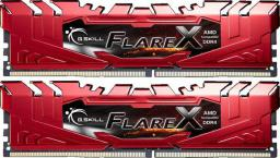 Pamięć G.Skill Flare X, DDR4, 16 GB,2400MHz, CL16 (F4-2400C16D-16GFXR)