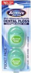 Beauty Formulas Beauty Formulas Active Oral Care Nić dentystyczna Travel Size  2 x 12m