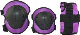 NILS Extreme H110  rozm.M fioletowe zestaw ochraniaczy (16-2-329)