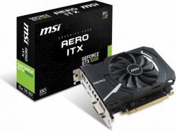 Karta graficzna MSI GeForce GTX 1050 Aero ITX OC 2GB GDDR5 (128 bit), DVI-D, HDMI, DisplayPort, BOX (GTX 1050 AERO ITX 2G OC)