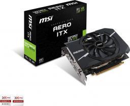 Karta graficzna MSI GeForce GTX 1070 AERO ITX OC 8GB GDDR5 (256 Bit) DVI-D, 2xHDMI, 2xDP, BOX (GTX 1070 AERO ITX 8G OC)