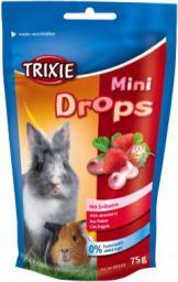 Trixie Dropsy dla gryzoni truskawkowe, 75g