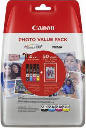 Canon oryginalny tusz CLI-551XL C/M/Y/BK Photo Value Pack (6443B006)