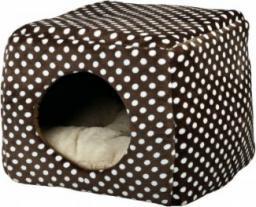 Trixie Domek pluszowy dla kota /legowisko Mina, 40x32x40 cm, brązowo/beżowe