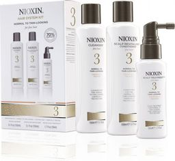 Nioxin SET Nioxin Hair System Kit 3 (W) szampon 150ml + odżywka 150ml + kuracja 50ml