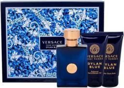 VERSACE Pour Homme Dylan Blue Zestaw dla mężczyzn  EDT 50 ml + Żel pod prysznic 50 ml + Balsam po goleniu 50 ml