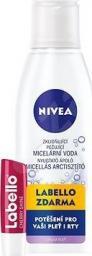 Nivea Pielęgnacyjny zestaw 200ml Woda micelarna 200ml + pielęgnacja ust 5.5ml Cherry Shine