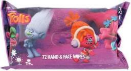 Trolls Hand & Face Wipes Chusteczki do twarzy 72szt