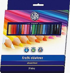 Astra Kredki ołówkowe akwarelowe 24 kolory