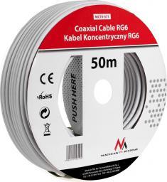 Przewód Maclean Antenowy, 50m, Biały (MCTV-571)
