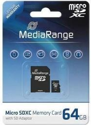 Karta MediaRange MR955 MicroSDXC 64 GB Class 10 UHS-I  (MR955)