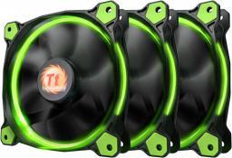 Thermaltake Wentylator Riing 12 LED, 120mm, 3 sztuki, zielony (CL-F055-PL12GR-A)