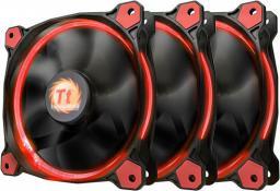 Thermaltake Wentylator Riing 12 LED, 120mm, 3 sztuki, czerwony (CL-F055-PL12RE-A)