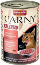 ANIMONDA  CARNY Kitten Wołowina i indycze serca 400g