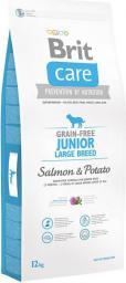 Brit Care Grain-free Junior Large Breed Salmon & Potato - 12 kg