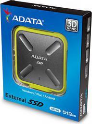 Dysk zewnętrzny ADATA SSD SD700 1 TB Czarno-Żółty (ASD700-1TU3-CYL)