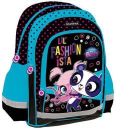 Starpak Plecak szkolny Littlest Pet Shop czarno-niebieski (372659)