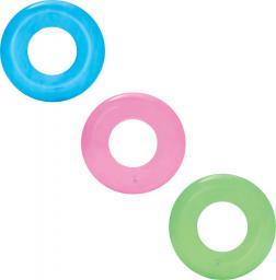 """Bestway Kółko nadmuchiwane 51cm """"Transparent Tire Tube"""" - 3 kolory (niebieski, zielony, różowy)"""
