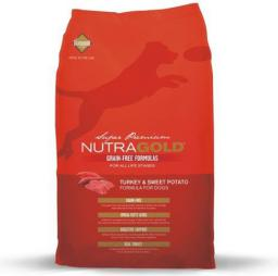 DIAMOND PET FOODS Nutra gold grain free pies turkey potato, bezzbożowa 13.6kg