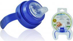 Pacific Baby Uchwyt z miękkim ustnikiem do butelki Pacific Baby - niebieski (PB437)
