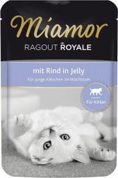 FINNERN Miamor Ragout Royale saszetka Kitten Wołowina w galaretce - 100g